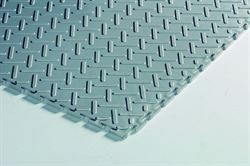 Plastiflor Cheque Plate Silver vinyl interlocking tiles