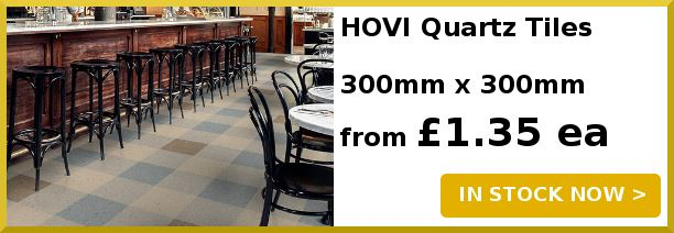Extra Heavy Duty Quartz Vinyl Tiles