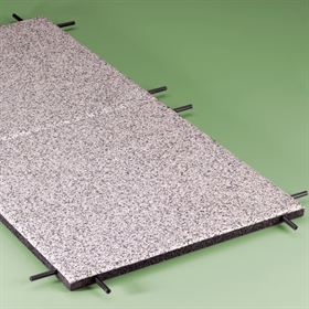 Multitile Impact absorbing crumb rubber gymnasium flooring tiles