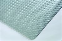 Diamond Foot Mat Plain Grey