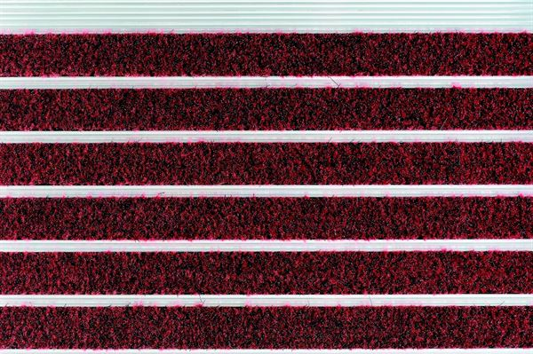 High Street low profile Claret aluminium entrance mats